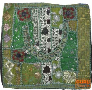 Patchwork Kissenhülle, Dekokissen Bezug aus Rajasthan, Einzelstück - Muster 58