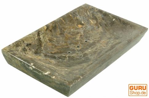 Marmor Seifenschale, Zen Schale für den Waschtisch - grau