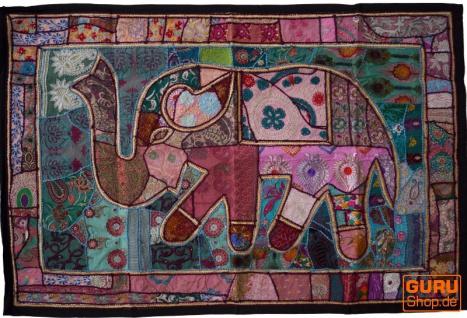 Indischer Wandteppich Patchwork Wandbehang, Einzelstück 150*100 cm - Muster 48