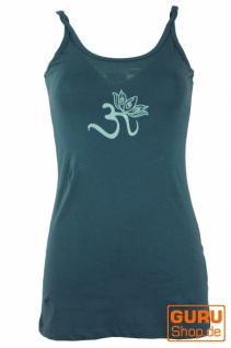 Yoga-Top Bio Baumwolle OM - taubenblau