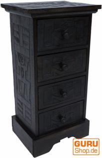 Schubfachschrank Ethno aus Balsaholz mit 4 Schubladen - Modell 15