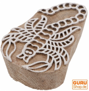 Indischer Textilstempel, Stoffdruckstempel, Blaudruck Stempel, Holz Model - 5*7 cm Skorpion