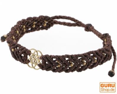 Goa Armband, Makramee, Festival Armband - Mandala Modell 21