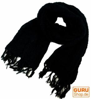 Baumwoll Strickschal - schwarz
