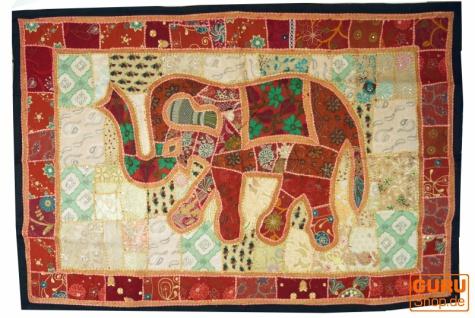 Indischer Wandteppich Patchwork Wandbehang, Einzelstück 150*100 cm - Muster 9