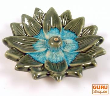 Räucherstäbchenhalter Lotus aus Keramik zweifarbig - Modell 17