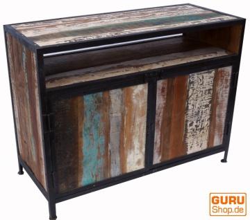 Kommode, Beistellschrank, Kommode, Fernsehschrank aus recyceltem Holz - Modell 5