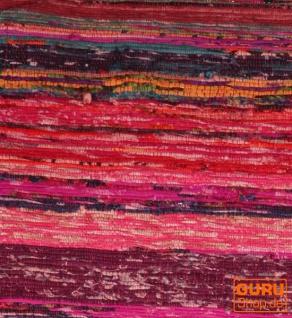 Leichter Flickenteppich, Flickendecke 100*160 cm - rot-bunt - Vorschau 2