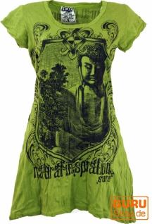 Sure Long Shirt, Minikleid Bodhi Baum Buddha - lemon