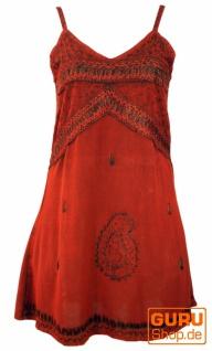 Besticktes indisches Kleid, Boho Minikleid - rot Design 1