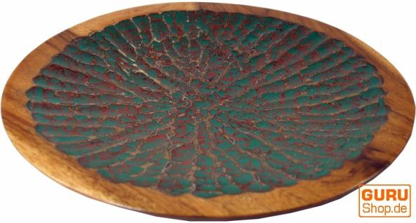 Beschnitzte Holzschale Vintage, exotische Obstschale - Design 6