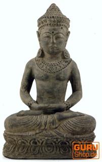 Sitzender Buddha aus Stein, 30 cm - Modell 2