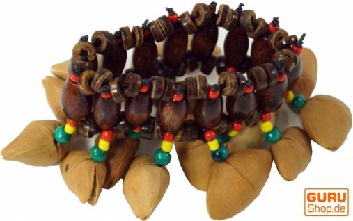 Exotische Cha Cha Nut Rassel für das Handgelenk - Armband Fußkette 2