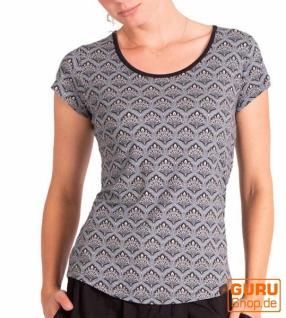 T-Shirt aus Bio-Baumwolle / Chapati Design - grey retro