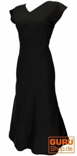 Langes Sommerkleid, Boho chic Leinenkleid - schwarz - Vorschau 3