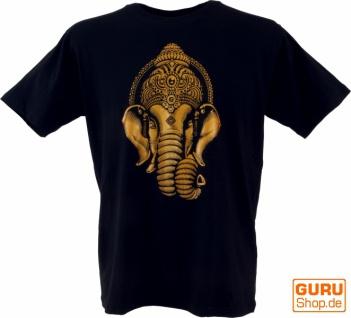 Tibet & Buddhist Art T-Shirt - Goldener Ganesha / schwarz
