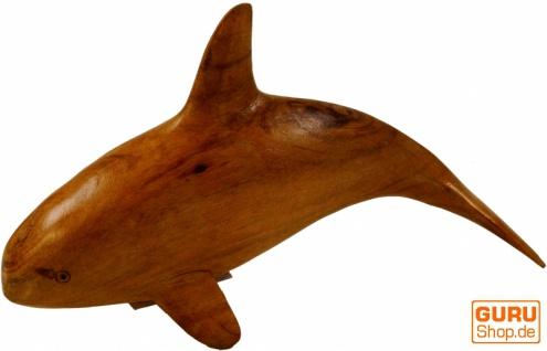 Geschnitzte kleine Deko Figur - Holzdelphin