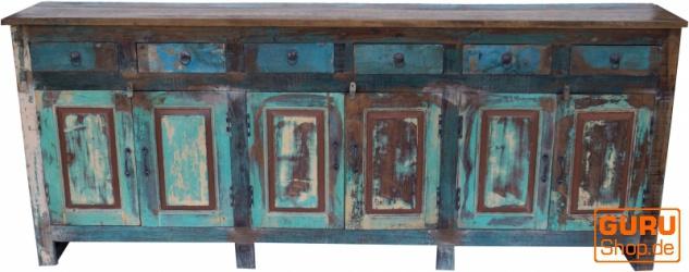 XXL Vintage Kommode mit 6 Türen und 6 Schubfächern