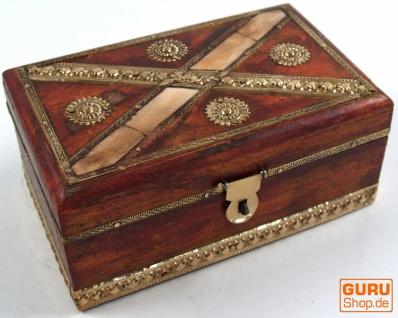 Rustikale kleine Schatztruhe, Holzschachtel, Schmuck Dose - Modell 10