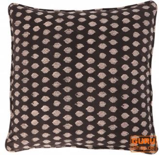 Kissenbezug Blockdruck, Kissenhülle mit Blumendruck, Dekokissen Bezug mit traditionellem Design 50*50 cm - Muster 5 - Vorschau 1
