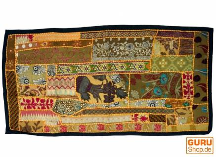 Patchwork Wandbehang, Wandteppich, Einzelstück 125*65 cm - Muster 1