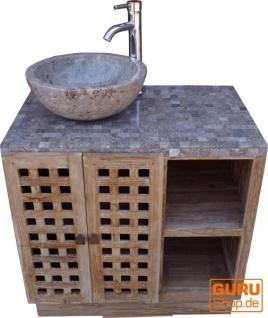 Waschtisch, Waschbecken, Antikweiß-Marmor