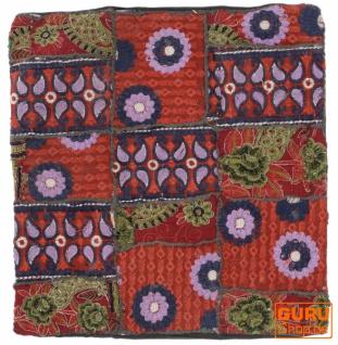 Patchwork Kissenhülle, Dekokissen Bezug aus Rajasthan, Einzelstück - Muster 59