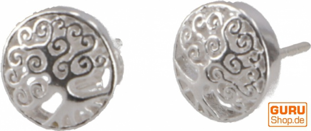 Silberne Ohrringe, Ohrstecker aus Silber `Tree of Life`- Model 1