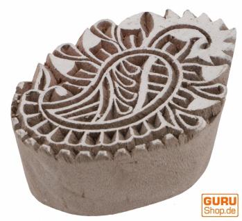 Indischer Textilstempel, Stoffdruckstempel, Blaudruck Stempel, Holz Model - 4*6 cm Paisley 5