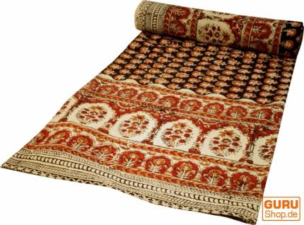Blockdruck Tagesdecke, Bett & Sofaüberwurf, handgearbeiteter Wandbehang, Wandtuch - Muster 2