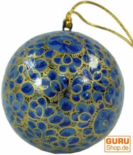 Upcycling Weihnachtskugel aus Pappmachee, Handbemalter Christbaumschmuck, Kaschmirkugeln - Muster 7