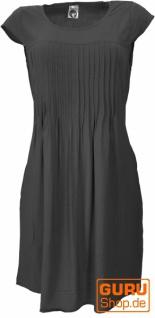 Minikleid Boho Style, schlichtes Sommerkleid - schwarz