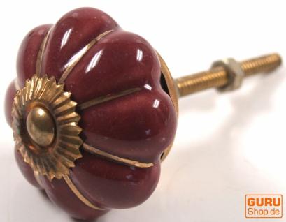 Möbelknopf Rose aus Keramik, Möbelknauf Möbelgriff, Schranktürknöpfe, Möbelknöpfe, Schubladengriff - Modell 7