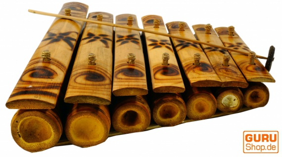 Tisch Klangspiel, Musik Percussion Rhythmus Klang Instrumente aus Bambus - Modell 5