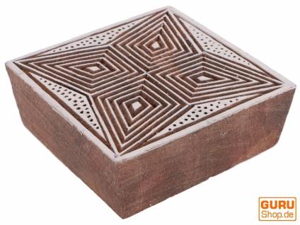Indischer Textilstempel, Stoffdruckstempel, Blaudruck Stempel, Holz Model - 7*7 cm Stern 3