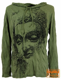 Sure Langarmshirt, Kapuzenshirt Dreaming Buddha - olive