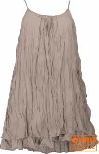 Boho Krinkelkleid, Minikleid, Sommerkleid, Strandkleid, Lagenkleid - taupe