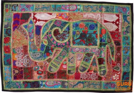 Indischer Wandteppich Patchwork Wandbehang, Einzelstück 150*100 cm - Muster 35