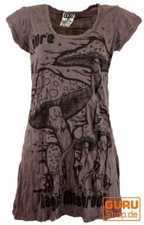 Sure Long Shirt, Minikleid Magic Mushroom - taupe
