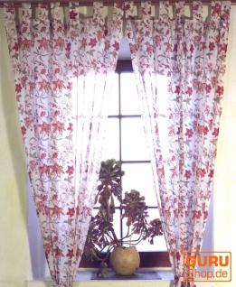 Boho Vorhänge, Gardine (1 Paar ) mit Schlaufen, leicht transparenter handbedruckter ethno Style Vorhang - Muster 8