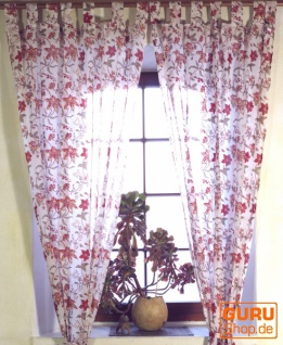 Vorhang, Gardine aus dünner Baumwolle (1 Paar Vorhänge, Gardinen) - Muster 8