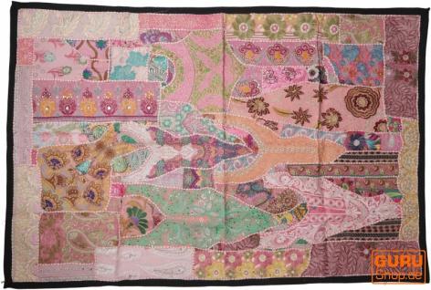 Indischer Wandteppich Patchwork Wandbehang, Einzelstück 150*100 cm - Muster 22