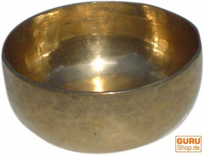 Handgearbeitete Messing Klangschale aus Indien - 14 cm