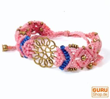 Goa Armband, Makramee, Festival Armband, Einzelstück - Blume Modell 11