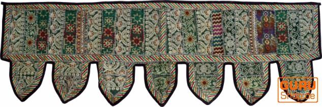 Orientalischer Wandbehang, indischer Toran, Wimpel Wandteppich, Wanddekoration, Tür Deko Einzelstück 150*45 cm - Design 7