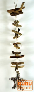 Treibgut Mobile Stern aus Holz und Muschelstücken - Muschel 5