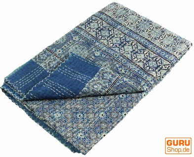 Quilt, Steppdecke, Tagesdecke Bettüberwurf, Besticktes Tuch, Indischer Bettüberwurf, Tagesdecke - Muster 30