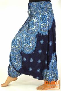 Afghani Hose, Overall, Jumpsuit, Haremshose, Pluderhose, Pumphose, Aladinhose - marineblau