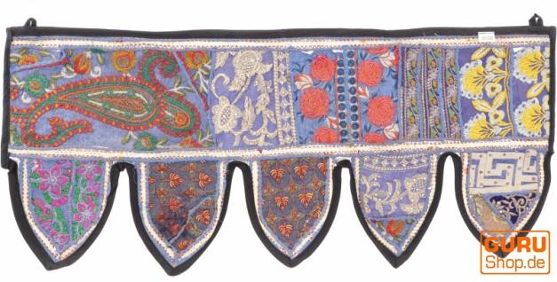 Orientalischer Wandbehang, indischer Toran, Wimpel Wandteppich, Wanddekoration, Tür Deko Einzelstück 85*35 cm - Design 4