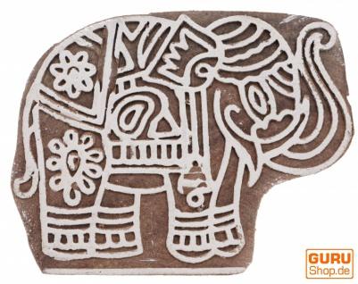 Indischer Textilstempel, Stoffdruckstempel, Blaudruck Stempel, Holz Model - 5*7 cm Elefant 2